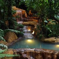 Arenal Hot Springs, Costa Rica, one of the most beautiful places I've ever been to. I have been to Costa Rica. The Hot Springs I visited looked nothing like this. Romantic Destinations, Vacation Destinations, Dream Vacations, Vacation Spots, Costa Rica, Places To Travel, Places To See, Places Around The World, Around The Worlds