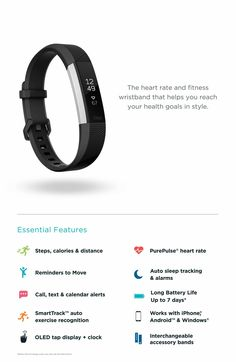 08f9f5f47e5 Fitbit Alta HR Wireless Heart Rate and Fitness Tracker