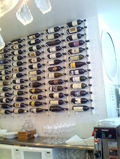 Look!: VintageView Wine Bottle Racks at Caffe Falai