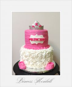 Princess Cake  www.leileiscuisine.com Baby Shower Princess, Baby Princess, Prince And Princess, Baby Shower Cakes, Desserts, Kitchens, Cakes Baby Showers, Tailgate Desserts, Deserts