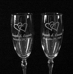 Bride And Groom Wedding Glasses