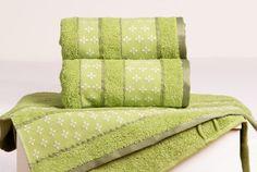 Froté ručník VIVIEN - zelená 50x90 cm