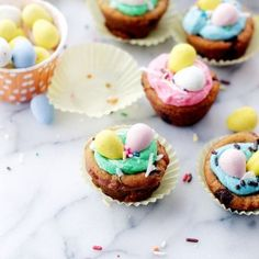 Easter Cookie Cups with Coconut Buttercream Frosting