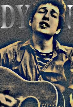Bob Dylan Art print Folk Legend Songwriter by StoneyPrints on Etsy, $16.90