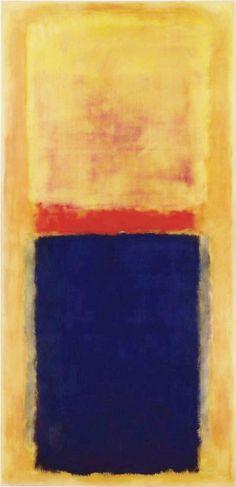 "dailyrothko: ""dailyrothko: ""Mark Rothko, Homage to Matisse, 1954 "" Here we have a nice new scan of Rothko's lush ""Homage to Matisse"" """