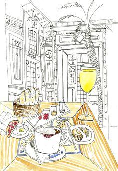 Petit dej' @ Nante's La Cigale.  French breakfast. thefrancofly.com by Jessie Kanelos Weiner