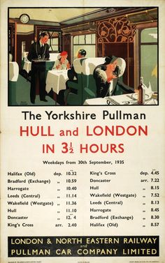 This The Yorkshire Pullman - Hull and London Art Print Art Print is created using state of the art, industry leading Digital printers. The Yorkshire Pullman - Hull and London Train Posters, Railway Posters, Pullman Car, Pullman Train, National Railway Museum, Kingston Upon Hull, British Travel, Trains, Train Travel