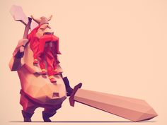 Dribbble - Low Poly Viking 3 by Jona Dinges