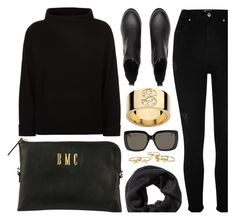 """Black & Gold"" by mimicdesign ❤ liked on Polyvore featuring Jaeger, River Island, Gucci, gold and black"