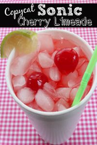 Copycat Sonic Cherry Limeade on MyRecipeMagic.com. This is our favorite refreshing drink.