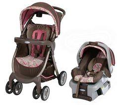 Graco FastAction Baby Stroller & SnugRide 30 Infant Car Seat Travel System