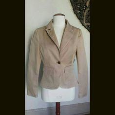 Selling this Bebe Short Khaki Blazer w/Belt loops on Poshmark! My username is: uptownbella. #shopmycloset #poshmark #fashion #shopping #style #forsale #bebe #Jackets & Blazers