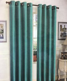 This Teal Mira Curtain Panel - Set of Two by j&v textiles is perfect! Drapes Curtains, Teal, Windows, Living Room, Textiles, Home Decor, Bedroom Ideas, Country, Products