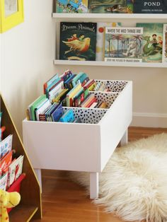 diy book bin in girl room decor, diy book bin in kid room decor, kid playroom design, kid room design ideas, kid storage ideas Girl Room, Girls Bedroom, Bedroom Ideas, Diy Bedroom, 6 Year Old Girl Bedroom, Child's Room, Bedroom Themes, Modern Bedroom, Bedroom Wall