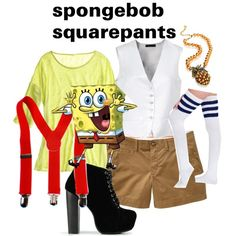 SpongeBob SquarePants inspired outfit. I would were a red tie instead of the suspenders.