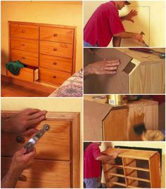 Briliant Space Saver: DIY Knee-Wall Dresser If you didn't get to design your house from the early building stages, you may have run into a few storage problems here and there. Even if you were so lucky, life can change rather rapidly: kids move out and you may want to convert their bedrooms, or maybe kids are on the way and you now need to create a new bedroom. Whatever the case, dressers can get really bulky, take up way too much space, and really make a room feel a lot smaller than it is.