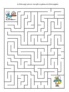 Labyrinthe Schtroumpf A Imprimer