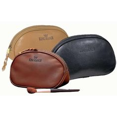 """BackOverviewA beautiful and timeless alternative to the disposable bags sold elsewhere, this compact case is the perfect complement to your King Ranch purse or briefcase. Specify Rio, Chaparral, Sombra or Western Tooled Leather. 8 3/4""""W x 4 3/4""""H. Made in USA."""