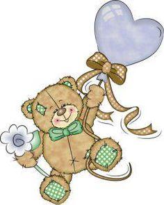 blue balloon bear