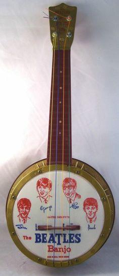 BEATLES Very Rare 1964 Mastro Banjo With Booklet