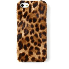 The Case Factory Leopard-Print iPhone 5 Case ($115) ❤ liked on Polyvore
