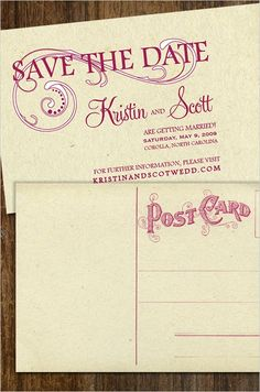 postcard invitations. love.  you can even add a personal message to each post card. wonderful!!!