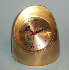 Eames MCM Gold Jefferson Integer Cordless Electric Clock Model 580 231 | eBay