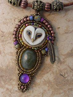 Heidi Kummli  Sweet Little Owl Necklace by freespiritheidi on Etsy, $125.00