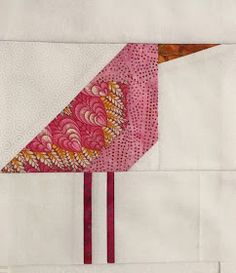 This pretty pink bird was too pretty to have black legs, so I gave her pink ones.     I'm getting a root canal today.   Yuk.