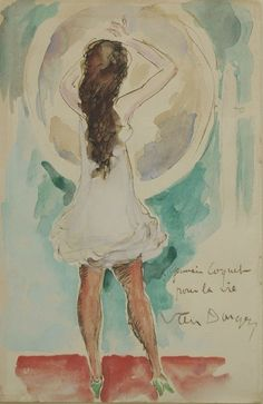 Kees van Dongen - Young girl in front of the mirror (1942)