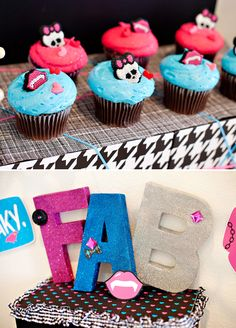 Monster High Party Ideas - Part 2: Freaky Fab Fun Dessert and Monster High Cupcakes