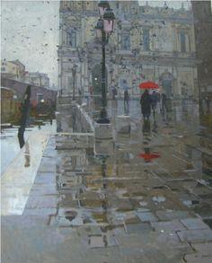 Campo San Giovanni e Paolo. - Ken Howard RA, NEAC - Island Fine Arts