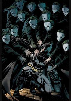 """Batman in the Court of Owls."" #Batman #owls"