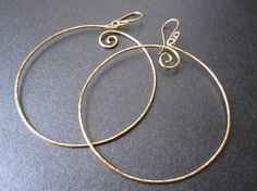 14k gold filled EXTRA LARGE CIRCLES by YourUniqueKreations on Etsy, $37.00