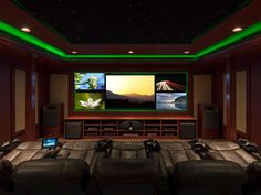 Green Ambient Gamer Room Lighting