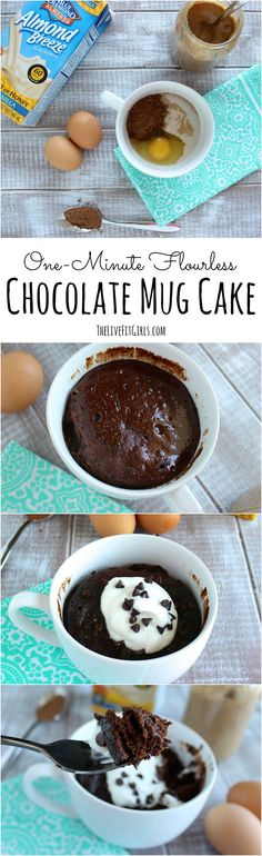 The PERFECT single serve chocolate dessert. This flourless chocolate mug cake is so easy and takes only minutes. #glutenfree #ad
