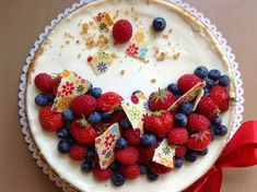 Cheesecake s ovocem - Víkendové pečení Cheesecake Brownies, Cheesecake Recipes, Cheesecakes, Sweet Recipes, Birthday Cake, Pudding, Cupcakes, Baking, Food