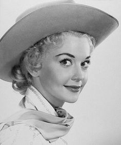 Actress Donna Douglas - Beverly Hillbillies fame, Ellie Mae, blondes, black and white