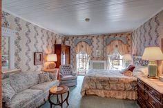 "The ""Victoria Room,"" with an ensuite full bath, at #WinterwoodatPetersham, #Bedandbreakfastforsale http://www.19northmainstreet.com"