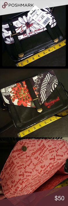 NWT Desigual Mini Satchel Cutest cross body mini satchel, 9 inches wide, 7 inches tall, 3 inches in depth. Desigual Bags Mini Bags