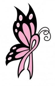 Cancer Ribbon Butterfly Tattoos Bing Images