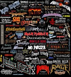 Heavy Metal Music throughout history Heavy Metal Bands, Heavy Metal Shirts, Heavy Metal Music, Twisted Metal, Power Metal, Metal Band Logos, Band Wallpapers, Religion, Music Magazines