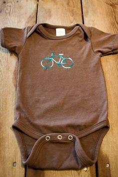 Bicycle onesie on Etsy, $15.00