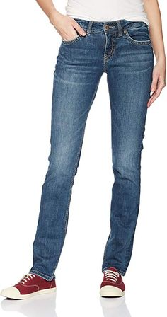 Shop the latest collection of Silver Jeans Co. Silver Jeans Co Women's Suki Curvy Fit Mid Rise Straight Leg Jeans from the most popular stores - all in one place. Lined Jeans, Curvy Jeans, Juniors Jeans, Romper Pants, Jeans Dress, Silver Jeans, Curvy Fit, Jeans Brands, Slim Legs