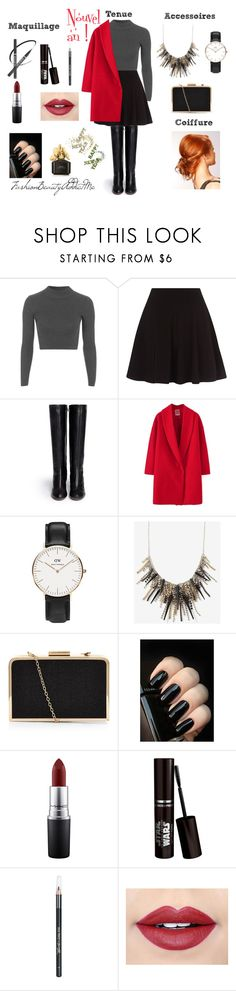 """""""Get ready : Nouvel an"""" by chachalapin on Polyvore featuring mode, Topshop, Chloé, Daniel Wellington, MAC Cosmetics, Barry M, Fiebiger et Marc Jacobs"""