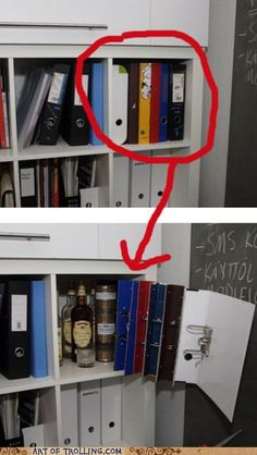 Oh geez! I could make this... not necessarily to hide booze, but it looks like a…
