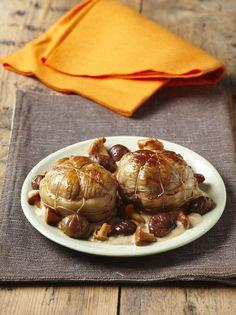 Les #paupiettes de veau aux #girolles et aux #chataignes une recette pour l' #automne http://www.le-grand-pastis.com/paupiettes-de-veau-girolles-chataignes/
