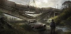 ArtStation - Post apocaliptic road, Max Duran