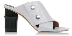 Lauren's Bamboo-Heeled Mules. It's a neutral-colored shoe with unusual details.