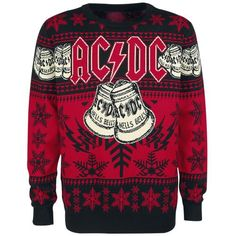 acdc hells bells christmas holiday sweaterjumper holiday sweaters holiday tops - Metal Christmas Sweater